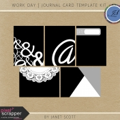 Work Day- Journal Card Template Kit