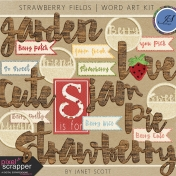 Strawberry Fields- Word Art Kit