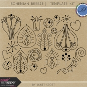Bohemian Breeze- Template Kit