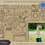 Strawberry Fields- Doodle Template Kit 2