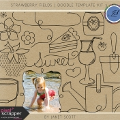 Strawberry Fields- Doodle Template Kit 3