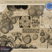 Strawberry Fields- Stamp Template Kit