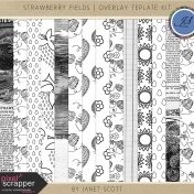 Strawberry Fields- Overlay Template Kit
