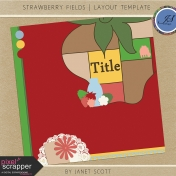 Strawberry Fields- Layout Template Kit