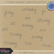 Toolbox Calendar- Large Metal Days Kit