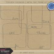 Toolbox Calendar- Metal Day Frame Kit