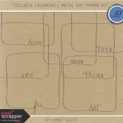Toolbox Calendar- Metal Day Frame Kit