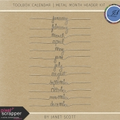 Toolbox Calendar- Metal Month Header Kit