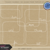 Toolbox Calendar- Day Doodle Frame Template Kit
