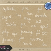 Toolbox Calendar- Large Doodle Months Template Kit