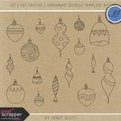 Let's Get Festive- Ornament Doodle Template Kit