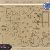 Let's Get Festive- Winter Doodle Template Kit
