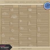 Toolbox Calendar 2- General Doodled Journal Card Kit