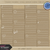 Toolbox Calendar 2- School Doodled Journal Card Kit