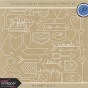 Toolbox Calendar 2- Arrow Doodle Template Kit