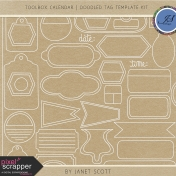 Toolbox Calendar 2- Doodled Tag Template Kit