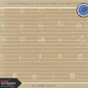 Toolbox Calendar 2- Holiday Doodle Journal Card Template Kit