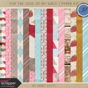 For The Love of My Girls- Paper Kit