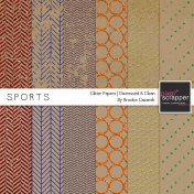 Sports Glitter Papers Kit