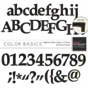 Color Basics Chalkboard Alphas Kit