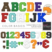 Color Basics Cardboard Alphas Kit