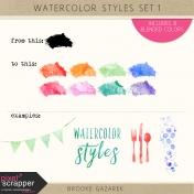 Watercolor Styles Set 1