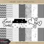 Heart Day Templates Kit