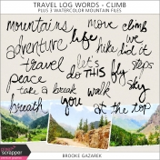 Travel Log Words- Climb Kit