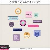 Digital Day Word Elements