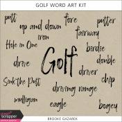 Golf Word Art Kit