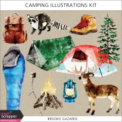 Camping Illustrations Kit
