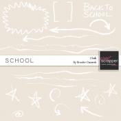School Chalk Doodles Kit