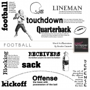 Football Word Art And Illustrations Templates Kit