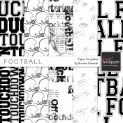 Football Paper Templates Kit