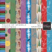 Touch of Sparkle Christmas Papers 1 Kit