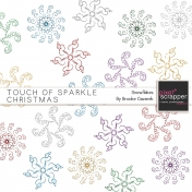 Touch of Sparkle Christmas Snowflakes Kit
