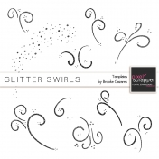 Glitter Swirl Templates Kit