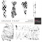 Grunge Paint Brushes Kit