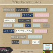 Work From Home- Labels