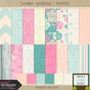 Shabby Wedding- Papers
