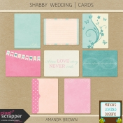 Shabby Wedding- Journal Cards