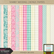 Shabby Wedding- Bonus Papers