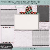 You Can't Buy Love Buy You Can Rescue It- Journaling Element Kit