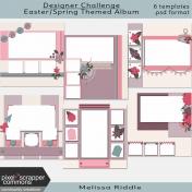 Designer Challenge Easter/Spring Themed Album Template Kit