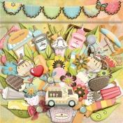 Ice Cream Delights- Embellishments