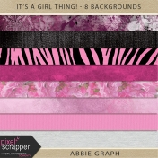 It's A Girl Thing!- 8 Backgrounds Kit
