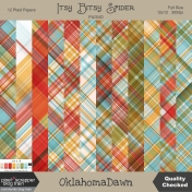 Jack & Jill October 2019 blog train - Itsy Bitsy Spider plaid papers