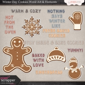 Winter Day Cookies Word Art & Elements Mini Kit