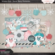 Winter Fun- Snow Baby Elements