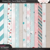 Winter Fun- Snow Baby Papers
